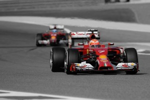 Kimi Raikkonen Fernando Alonso Sakir 2014 Bahrein