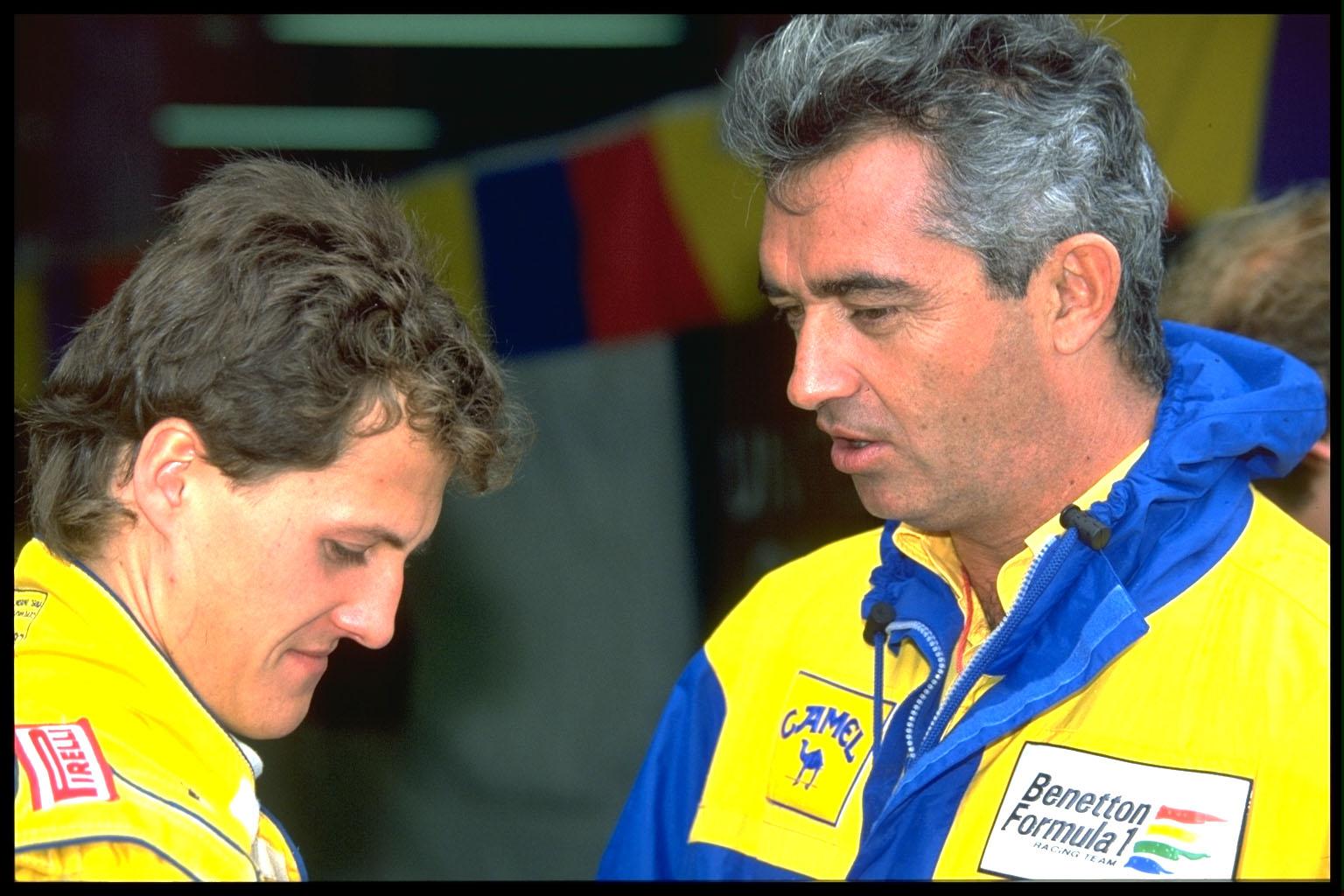 Michael Schumacher Flavio Briatore 1991