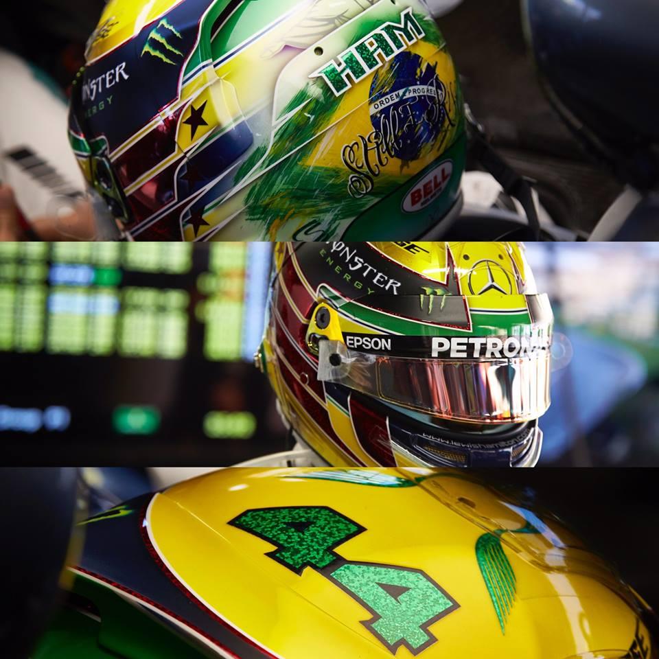Lewis Hamilton GP Brésil 2016 hommage Ayrton Senna F1