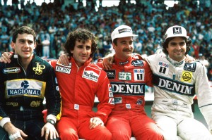 Senna Prost Mansell Piquet Adelaide 1986